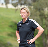 20180305 - LARNACA , CYPRUS : Swiss head coach Martina Voss-Tecklenburg pictured during a women's soccer game between Switzerland and Wales , on monday 5 March 2018 at GSZ Stadium in Larnaca , Cyprus . This is the third game in group A for Switzerland and Wales during the Cyprus Womens Cup , a prestigious women soccer tournament as a preparation on the World Cup 2019 qualification duels. PHOTO SPORTPIX.BE   DAVID CATRY