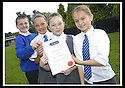 06/09/2007       Copyright Pic: James Stewart.File Name : sp_jspa03_weather_comp.SCOTTISH POWER : ROYAL METEOROLOGICAL SOCIETY : 2007 SCHOOLS WEATHER COMPETITION. .THE PUPILS FROM KING'S OAK PRIMARY SCHOOL, GREENOCK, WITH THEIR CERTIFICATE  AFTER THEY WON THE ROYAL METEOROLOGICAL SOCIETY'S, 2007 SCHOOLS WEATHER COMPETITION, SPONSORED BY SCOTTISH POWER... THE PUPILS ARE LtoR KYLE LINDSAY (10), REBECCA KEMP (10), SEONAID MCLAUGHLAN (9),  AND JENNA HOLMES (10).....James Stewart Photo Agency 19 Carronlea Drive, Falkirk. FK2 8DN      Vat Reg No. 607 6932 25.Office     : +44 (0)1324 570906     .Mobile   : +44 (0)7721 416997.Fax         : +44 (0)1324 570906.E-mail  :  jim@jspa.co.uk.If you require further information then contact Jim Stewart on any of the numbers above........
