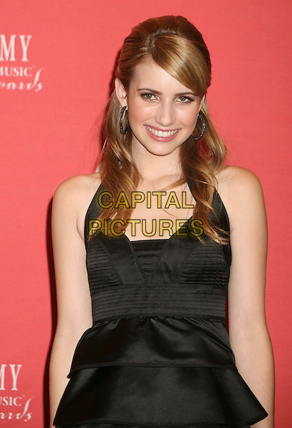 EMMA ROBERTS.42nd Annual Academy Of Country Music Awards held at the MGM Grand Garden Arena, Las Vegas, Nevada, USA..May 15th, 2007.half length black dress black dress .CAP/ADM/BP.©Byron Purvis/AdMedia/Capital Pictures