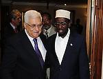 Palestinian President Mahmoud Abbas (Abu Mazen) during a meeting with the Somali President in the Ethiopian capital Addis Ababa on July 7,2010. Photo by Omar Rashidi
