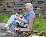 Tad Richards seen at Mamalama and Andes Manta performances at the Opus 40 Sculpture Park on Fite Road, in Saugerties, NY on Sunday May 21, 2017. Photos by jim Peppler. Copyright Jim Peppler/2017.