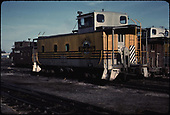 Caboose #01409 - yellow and black color scheme.<br /> D&amp;RGW