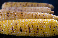 Grilled yellow, white and bicolor corn.