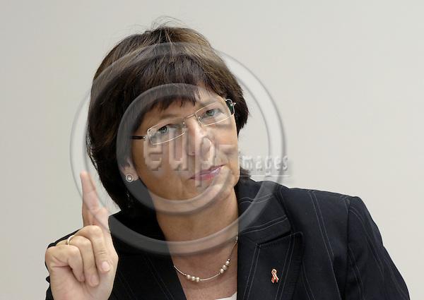 Brussels-Belgium - 30 November 2006---Ulla SCHMIDT, Federal Minister for Health of Germany---Photo: Horst Wagner/eup-images