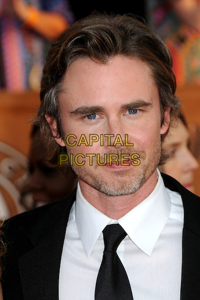 SAM TRAMMELL.16th Annual Screen Actors Guild Awards - Arrivals held at The Shrine Auditorium, Los Angeles, California, USA..January 23rd, 2009.SAG SAGs headshot portrait black white stubble facial hair .CAP/ADM/BP.©Byron Purvis/Admedia/Capital Pictures