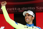 23/05/2015, Valdobbiadene - Giro d'Italia 2015 - Cycling road race - Individual Time Trial<br /> 201 at the podium of the individual time trial of 59,4 km of stage 14th on 23/05/2015 in Valdobbiadene, Italy.