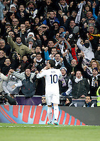 Real Madrid's Mesut Özil celebrates during La Liga Match. December 02, 2012. (ALTERPHOTOS/Alvaro Hernandez)