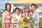 BEST DRESSED: Una Finucane of Listowel who was chosen as Best Dressed Lady at Listowel Races on Sunday. L-r: Liz Horgan (Sponsor), Gisele Scanlon (Judge), Una Finucane (Listowel) and Mags Horgan Healy (Finesse Bridal Listowel)..