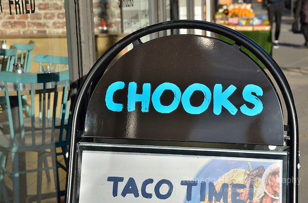 Chooks Taco restaurant in Muswell Hill, London, UK.