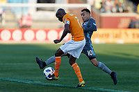 Minneapolis, MN - Saturday, April 28, 2018: Minnesota United FC played Houston Dynamo in a Major League Soccer (MLS) game at TCF Bank stadium. Final score Minnesota United FC 2, Houston Dynamo 1