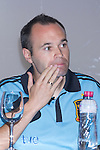 01.06.2012. Telecinco presents its official schedule for the transmission of Eurocup 2012 to the Ciudad del Futbol of Las Rozas, Madrid. In the image Andres Iniesta  (Alterphotos/Marta Gonzalez)