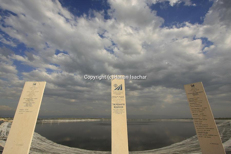 Israel, Beth Shean valley. Reshafim water reservoir