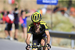 Simon Yates (GBR) Mitchelton-Scott attacks on the slopes of Sierra de la Alfaguara near the finish of Stage 4 of the La Vuelta 2018, running 162km from Velez-Malaga to Alfacar, Sierra de la Alfaguara, Andalucia, Spain. 28th August 2018.<br /> Picture: Eoin Clarke | Cyclefile<br /> <br /> <br /> All photos usage must carry mandatory copyright credit (&copy; Cyclefile | Eoin Clarke)