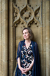 Sarah Pleydell, novelist, at Christ Church during the FT Weekend Oxford Literary Festival, Oxford, UK. Sunday 30 March 2014.<br /> <br /> PHOTO COPYRIGHT Graham Harrison<br /> graham@grahamharrison.com<br /> <br /> Moral rights asserted.