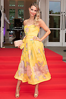 Sophie Hermann at the Grand Prix Ball at the Hurlingham Club, London on July 4th 2018<br /> CAP/ROS<br /> &copy;ROS/Capital Pictures