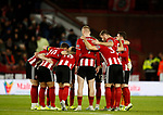 Team huddle during the Premier League match at Bramall Lane, Sheffield. Picture date: 5th December 2019. Picture credit should read: Simon Bellis/Sportimage