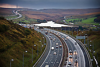 The M62 motorway from Scammonden Bridge. Ongoing editorial project around Saddleworth, UK.