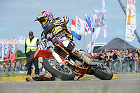MOTORSPORT: JOURE: 09-06-2013, Circuit De Woudfennen, Supermoto Races, Allstars Boetoe klasse, Wiebren Kraak (#728) Bantega, ©foto Martin de Jong