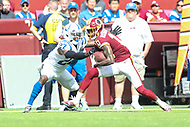 Landover, MD - September 16, 2018: Washington Redskins wide receiver Paul Richardson (10) catches a pass during the  game between Indianapolis Colts and Washington Redskins at FedEx Field in Landover, MD.   (Photo by Elliott Brown/Media Images International)