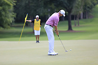 Bill Haas (USA) putts on the 12th green during Thursday's Round 1 of the 2017 PGA Championship held at Quail Hollow Golf Club, Charlotte, North Carolina, USA. 10th August 2017.<br /> Picture: Eoin Clarke | Golffile<br /> <br /> <br /> All photos usage must carry mandatory copyright credit (&copy; Golffile | Eoin Clarke)