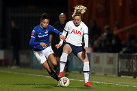 Chantelle Boye-Hlorkah of Everton women  and Gemma Davison of Tottenham Hotspur women  during Tottenham Hotspur Women vs Everton Women, Barclays FA Women's Super League Football at the Hive Stadium on 12th February 2020
