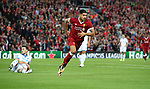 Emre Can of Liverpool celebrates scoring the opening goal during the Champions League playoff round at the Anfield Stadium, Liverpool. Picture date 23rd August 2017. Picture credit should read: Lynne Cameron/Sportimage