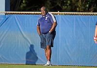 Florida International University men's soccer Head Coach Munga Eketebi during the game against Nova University on August 26, 2011 at Miami, Florida. FIU won the game 2-0. .