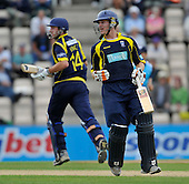 Cricket - Hampshire Royals V Scottish Saltires at The Rosebowl - Southampton - CB40 cricket - James Vince and Jimmy Adams put the Saltires to the sword - both scoring good centuries - in a stand of 131 - Picture by Donald MacLeod -29.08.11 - 07702 319 738 - www.donald-macleod.com