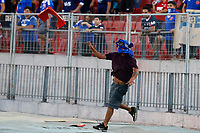 4th February 2020; National Stadium of Chile, Santiago, Chile; Libertadores Cup, Universidade de Chile versus Internacional; A supporter of Universidad de Chile invades the field