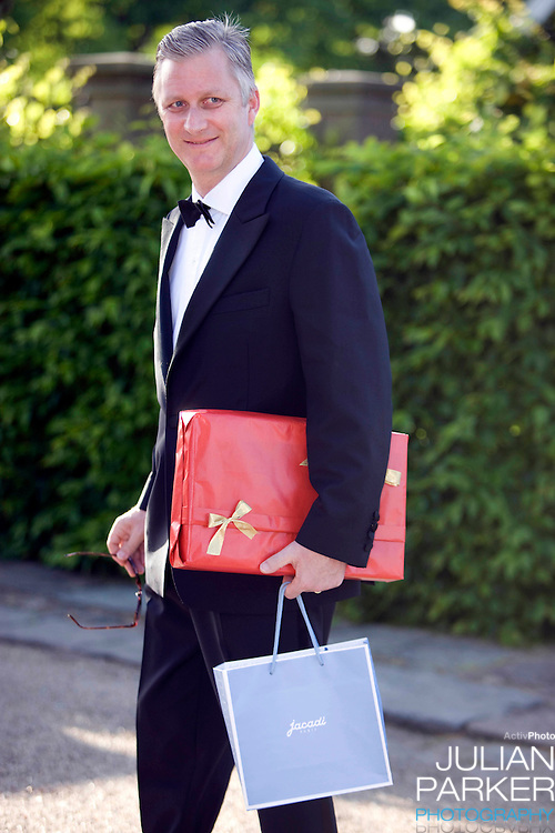 Crown Prince Phillipe of Belgium arrives for a Dinner Party at Fredensborg Palace, in Denmark, to celebrate Crown Prince Frederiks 40th Birthday. Crown Prince Frederik turned 40 on May 26th