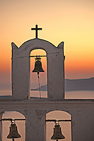 The sunset from Agios Minas in Santorini island, Greece