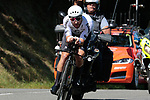 New Zealand Champion Patrick Bevin (NZL) CCC Team, the early leader finishes 2nd, in action during Stage 10 of La Vuelta 2019 an individual time trial running 36.2km from Jurancon to Pau, France. 3rd September 2019.<br /> Picture: Colin Flockton | Cyclefile<br /> <br /> All photos usage must carry mandatory copyright credit (© Cyclefile | Colin Flockton)