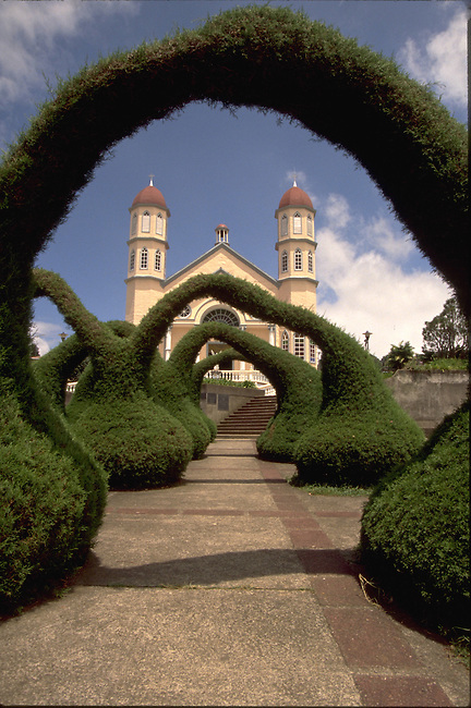 Costa Rica.  Topiaries at Iglesia de San Rafeal in Zarcero.