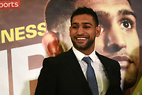 Amir Khan smiles during a Press Conference at the Dorchester Hotel on 10th January 2018