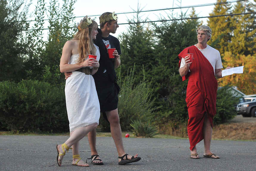 8/25/12 - Katie and Edward Haigh wedding reception weekend with Toga Party, Shelton Washington August 2012.