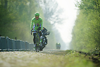 Peter Sagan (SVK/Cannondale) through sector 18: Pavé de la Trouée d'Arenberg<br /> <br /> 2014 Paris-Roubaix reconnaissance