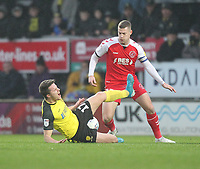 Fleetwood Town's Paul Coutts  in action with Burton Albion's Oliver Sarkic<br /> <br /> Photographer Mick Walker/CameraSport<br /> <br /> The EFL Sky Bet League One - Burton Albion v Fleetwood Town - Saturday 11th January 2020 - Pirelli Stadium - Burton upon Trent<br /> <br /> World Copyright © 2020 CameraSport. All rights reserved. 43 Linden Ave. Countesthorpe. Leicester. England. LE8 5PG - Tel: +44 (0) 116 277 4147 - admin@camerasport.com - www.camerasport.com