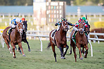 HALLANDALE BEACH, FL - JAN 13:Shining Copper #5 with Jose Ortiz on board for trainer Michael J. Maker heads to the finish line as leader in the $200,000 Fort Lauderdale Stakes at Gulfstream Park on January 13, 2018 in Hallandale Beach, Florida. (Photo by Bob Aaron/Eclipse Sportswire/Getty Images)