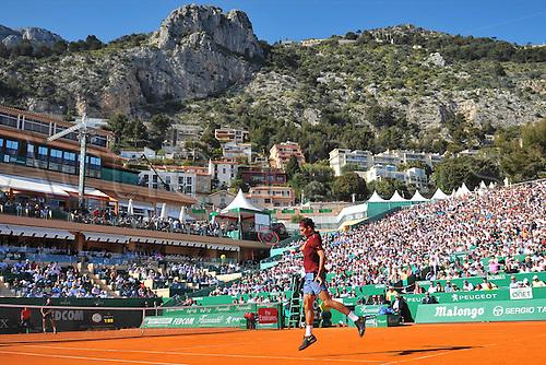 12.04.2016. Monte Carlo, Monaco. Monte Carlo ATP Tennis championships.  Roger Federer (Sui)