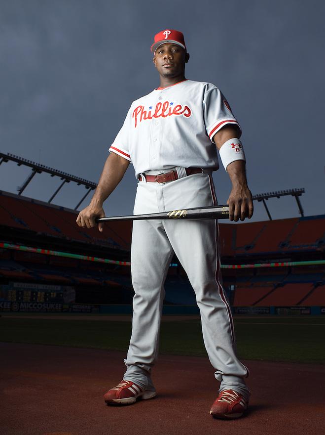 Philadelphia Phillies slugger Ryan Howard photographed in Miami, Florida for ESPN the Magazine on September 8, 2006