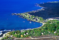 Aerial of Kona village resort on the Big island of Hawaii