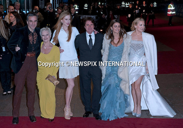 """Cast and Director.World Premiere of NINE.Attended by the all star cast including Daniel Day-Lewis, Penelope Cruz, Dame Judi Dench, Rob Marshall, Kate Hudson and Nicole Kidman_Odeon Leicester Square_London, 03/12/2009..Mandatory Photo Credit: ©Dias/Newspix International..**ALL FEES PAYABLE TO: """"NEWSPIX INTERNATIONAL""""**..PHOTO CREDIT MANDATORY!!: NEWSPIX INTERNATIONAL(Failure to credit will incur a surcharge of 100% of reproduction fees)..IMMEDIATE CONFIRMATION OF USAGE REQUIRED:.Newspix International, 31 Chinnery Hill, Bishop's Stortford, ENGLAND CM23 3PS.Tel:+441279 324672  ; Fax: +441279656877.Mobile:  0777568 1153.e-mail: info@newspixinternational.co.uk"""