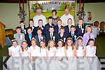 Fossa NS  pupils, who received their First Holy Communion in the Prince of Peace Church, Fossa on Saturday front row l-r: Eimear Talbot, Scarlett O'Reilly, Xenia Ganger, Jodie Sheehan, Brianna Griffin-Coffey, Sara Sheehan, Aoife Kissane, Maud Kelly, Isobelle O'Donoghue. Back row: Ivan Murphy, Colin O'Sullivan, Joe Cahillane, Mark McGlynn, finn Linehan, Matthew Fleming, Oran O'Hare. Back row: Harry Buckley, James Kennelly, Roy Hurley, Emett O'Shea, Padraic Talbot, Colm Talbot and David Mee..