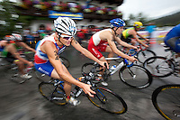 11 JUL 2009 - KITZBUHEL, AUT - Frederic Belaubre - ITU World Championship Series Mens Triathlon (PHOTO (C) NIGEL FARROW)