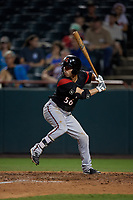 Richmond Flying Squirrels Peter Maris (56) at bat during an Eastern League game against the Bowie Baysox on August 15, 2019 at Prince George's Stadium in Bowie, Maryland.  Bowie defeated Richmond 4-3.  (Mike Janes/Four Seam Images)
