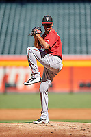 Arizona Diamondbacks pitcher Jhoan Duran (36) during an Instructional League game against the Oakland Athletics on October 15, 2016 at Chase Field in Phoenix, Arizona.  (Mike Janes/Four Seam Images)