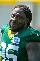 Green Bay Packers defensive tackle Ricky Jean Francois (95) during a training camp practice on August 15, 2017 at Ray Nitschke Field in Green Bay, Wisconsin.   (Brad Krause/Krause Sports Photography)