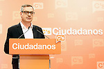 Ciudadanos (Citizens) spokesman Jose Manuel Villegas in press conference after learning the final general elections results. June 26,2016. (ALTERPHOTOS/Acero)