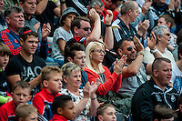 Swansea fans during the Barclays Premier League match between Swansea City and Manchester City played at the Liberty Stadium, Swansea on the 15th of May  2016