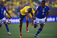Action photo during the match Ecuador vs Haiti at MetLife Stadium Copa America Centenario 2016. ---Foto  de accion durante el partido Ecuador vs Haiti, En el Estadio MetLife Partido Correspondiante al Grupo - B -  de la Copa America Centenario USA 2016, en la foto: Jerome Mechack<br /> <br /> -- 12/06/2016/MEXSPORT/Javier Ramirez.